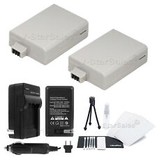 2x LPE5 Battery + Charger for Canon Rebel XS, XSi, T1i, Kiss F, X2, X3