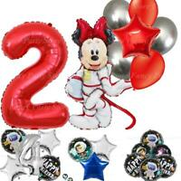 Minnie Mickey Mouse Balloons Space Rocket Happy Birthday Foil Latex Princess