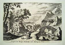 Lucca Castel Montocarlo Italien Italia  Küsell nach J. Baur  Kupferstich  1682