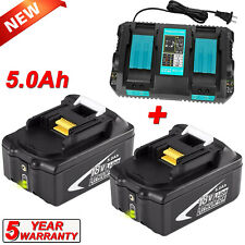 For Makita BL1850B2 18 Volt LXT Lithium-Ion Battery + DC18RD Dual Port Charger