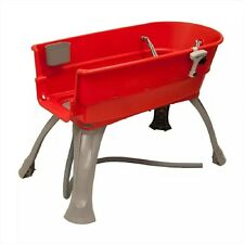 Bath Tub Large Dog Red Elevated Pet Bath Grooming Washing Station Plastic Supply