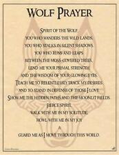 Wolf Prayer Parchment Page for Book of Shadows Page, Altar!
