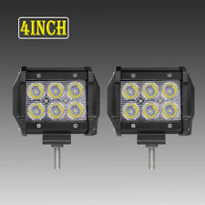 2X 18W 4 inch LED Work light Driving 30° Spot Beam Offroad For SUV JEEP 4X4WD 5""