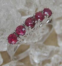 ✨wow✨ Rubin Ring in aus 14kt 585 Weiß Gold mit Rubine Ruby ✨✨mehr im ebay shop✨✨