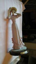 GLAMOROUS NIGHT EDWARDIAN ELEGANT FIGURINE - LADY HOLDING A MIRROR