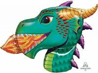 """36"""" Fire Dragon Mylar Foil Balloon Party Decorating Supplies"""