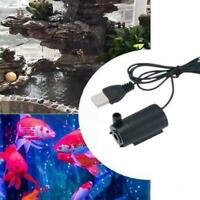 Mini Submersible Water Pump USB 1M 3V Cable DC Mute Tank For Fish Pump Wate T3A4