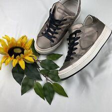 PHILIPPE MODEL Womens Silver/Bronze Metallic-Suede Crest Low-Top Sneakers 9-39