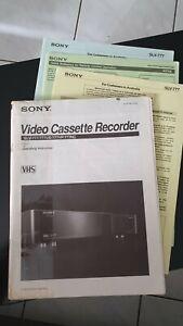 Sony Slv-777 Operating Instruction