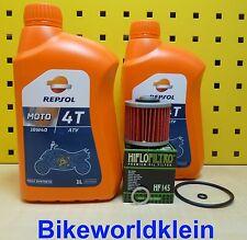 Yamaha yfm 700 r 06-16 2l Huile + Filtre à huile repsol ATV 10w40 d'huile raptor joint