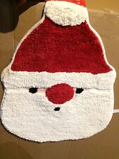 """Santa Clause Shaped Bath Rug Christmas Decor 20x26"""" Size By Home Essential New"""