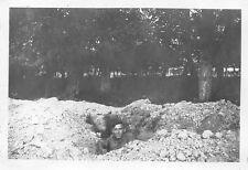 Orig. Foto Deutsche Soldat Schützengraben Schloss in Louverné 1940 Westfeldzug