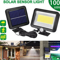 1000LM 100 COB LED Solar Wall Light Outdoor Garden Security Lamp Motion Sensor