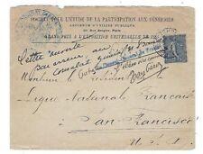 Paris France to San Francisco California, 25c Sower, International Exposition