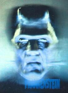 Frankenstein 1992 Universal Studios Monsters Pizza Hut Hologram Card Promo Holo