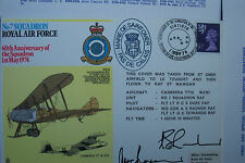 FIRST DAY COVER No360 SQD AWARD OF THE BADGE Signed AIR VICE MARSHALL D G EVANS