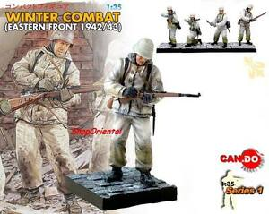 DRAGON 1:35 WW2 German Soldier Diorama Winter BUILT Painted FIGURE 1942 CD_8