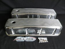 CHEVROLET BIG BLOCK VALVE COVERS RETRO CAST FINNED TALL ALUMINIUM