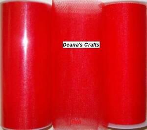 "5 RED TULLE Fabric Spools Rolls Bulk Lot 6"" X 25 Yds Tutu Bridal Bows Costumes"