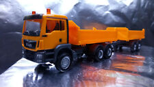 * Herpa 308090 MAN TGS M Euro 6c construction tandem axle dump truck 1:87 H0
