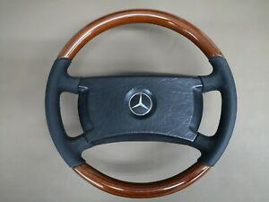Wood Steering Wheel for Mercedes Benz W123 W116 W126 W201 ZEBRANO