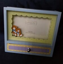 Addison Ross of London Picture Musical Box Frame With Moving Bears England