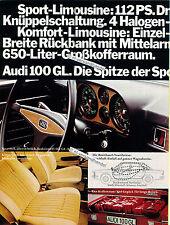 Audi-100-1972-Reklame-Werbung-genuine Advertising - nl-Versandhandel