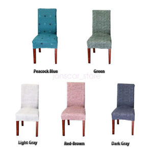 Textured 4pcs Chair Cover Seat Dustproof Protector Slipcover Stretch Room Decor