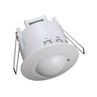 LED Recessed 360 PIR Microwave Sensor Flush Mount Infrared Motion Sensor White