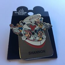 WDW Monorail SHANNON Name Pin FAB 4 Mickey Minnie Goofy Donald Disney Pin 15004
