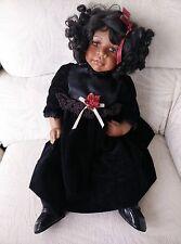 """Vintage porcelain Doll African American 22"""""""