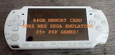 Sony PSP 3000 Black Modded System 64gb Custom Emulators SNES SEGA MAME Retro