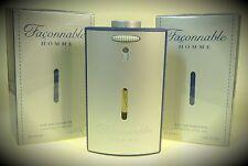2 X Façonnable / Faconnable Homme Eau de Toilette Spray 50 ml = 100 ml