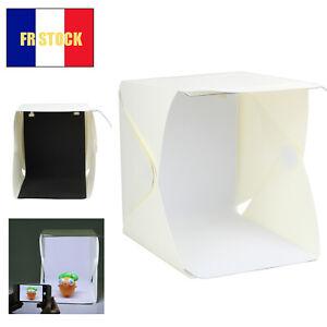 Studio Boite à lumière Photo Lightroom Portable LED La photographie Mini
