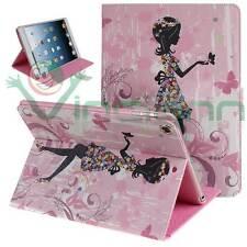Custodia PRIMAVERA per iPad Air 5 BOOK STAND cover FARFALLA e FIORI brillantini