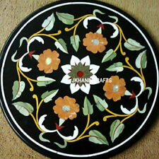 "18"" Marble Corner coffee Table Top Inlay Handicraft Pietra Dura Work"