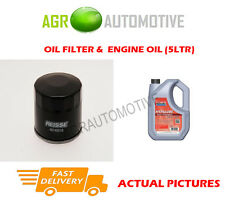 PETROL OIL FILTER + FS 5W40 ENGINE OIL FOR RENAULT TWINGO 1.0 71 BHP 2014-