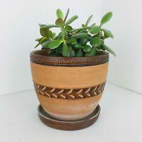 Vintage plant pot planter pottery retro mid century terracotta made in Italy