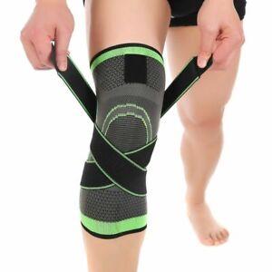 Knee Brace Compression Sleeve Plus Size XXXL Knee Wraps With Straps Pain Relief