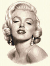 MARILYN MONROE - complete counted cross stitch kit