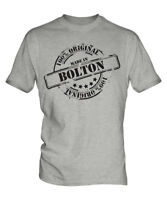 MADE IN BOLTON MENS T-SHIRT GIFT CHRISTMAS BIRTHDAY 18TH 30TH 40TH 50TH 60TH