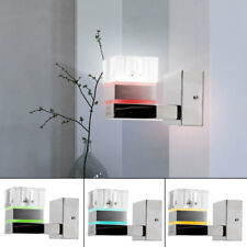 RGB LED Luxury Wall Lamp Glass Dice Chrome Reading Lighting Bedroom Light