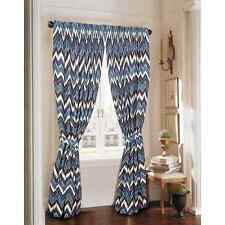 Rose Tree New Haven Window Curtain Panel Pair With Tiebacks (91x50) ) Blue New