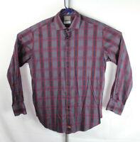 Thomas Dean Mens Size L Multicolor Plaid Flip Cuff Long Sleeve Button Down Shirt