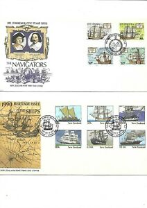 New Zealand - Ships - First Day Covers - 1990/92