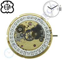 Genuine ETA 2824-2 Automatic Watch Movement Swiss Made Gold Colored GILT - NEW