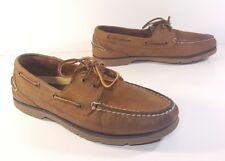 Sperry Top-Sider Defender 0194621 Deck Shoes Brown Leather Men's 8 M