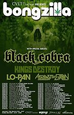BONGZILLA/BLACK COBRA 2016 NORTH AMERICAN CONCERT TOUR POSTER-Stoner Metal Music