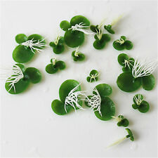 18X Mini Plastic Aquarium Simulation Floating Plants Fake Duckweed Fish Tank