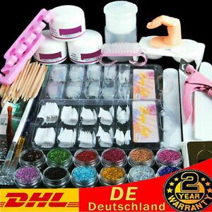 Acrylpulver Set Starter Glitzerpulver Acryl Acrylnägel Set Farbe Powder Pinsel